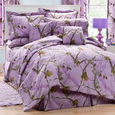 Realtree Purple Camo Bedding is for those who prefer a realistic woods and forest looking camouflage pattern in purple and lavender colors.