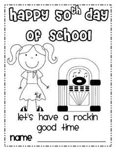 50th Day of School Activities FREEBIE