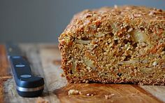 palate/palette/plate: Brown Sugar Carrot Bread with Almonds Protein Banana Bread, Chocolate Chip Banana Bread, No Bake Desserts, Healthy Desserts, Healthy Food, Brown Sugar Carrots, Almond Bread, Almond Milk, Almond Flour