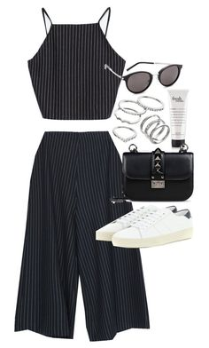 """Untitled #400"" by inspirene ❤ liked on Polyvore featuring Zara, Yves Saint Laurent, Valentino and Apt. 9"
