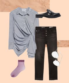 5 New Ways To Dress Up Your Denim For Work+#refinery29 #paid