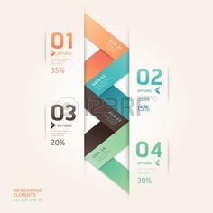 Moderne fl�che style origami nombre d'options banni�re. Vector illustration. peut �tre utilis� pour la mise en flux, diagramme, les options d'�tape, de la conception Web, infographie. photo