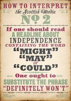 Scottish Media  #indyref #Scotland
