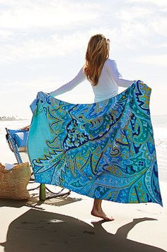Paisley Brights Beach Towels via frontgate Beach Essentials, A Perfect Day, Paisley Print, Paisley Design, Costume, Summer Fun, Summer Hours, Beach Towel, Seaside