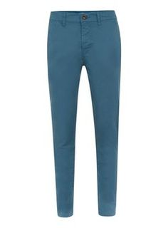 Bright Blue Stretch Skinny Chinos