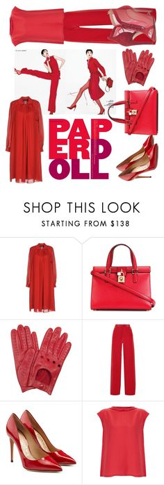 """paper doll"" by dudettelucy ❤ liked on Polyvore featuring Sonia Rykiel, Dolce&Gabbana, Forzieri, Juan Carlos Obando, Salvatore Ferragamo, Raoul and Chloe Gosselin"