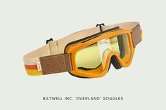 Biltwell Overland motorcycle goggles: vintage MX style for your open-face helmet.