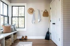 21 Mudroom Storage and Organization Ideas Small Storage, Storage Spaces, Ikea Ivar Cabinet, Ceiling Shelves, Neat And Tidy, Custom Cabinets, Entryway Decor, Entryway Ideas, Foyer