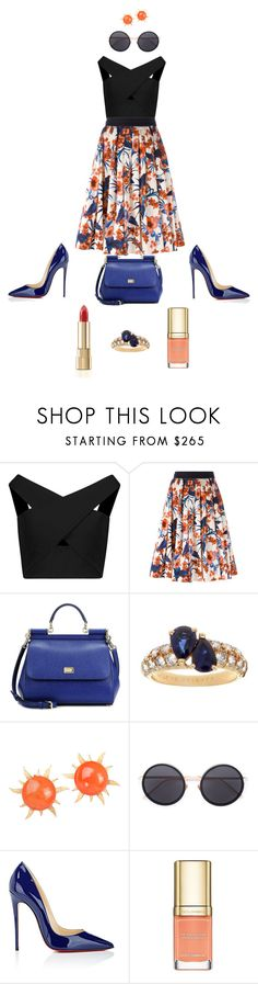 """""""Job Day 913"""" by minigiulia ❤ liked on Polyvore featuring Michelle Mason, FAUSTO PUGLISI, Dolce&Gabbana, Van Cleef & Arpels, Linda Farrow and Christian Louboutin"""
