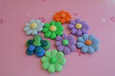 fiorellini in fimo colorati polymerclay