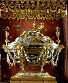 The Sacra Culla, or Holy Crib, is reserved for veneration in a silver reliquary by Giuseppe Valladier in the crypt of the Basilica of Santa ...