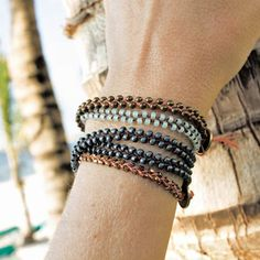 These quick and easy braided bracelets are great projects to make on the beach or on your next vacation.