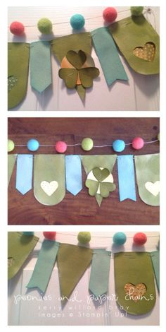 St. Patrick's Day Banner, Stampin' Up!, Heartfelt Banner Kit, Kerry Willard Bray, Peonies and Paper Chains blog
