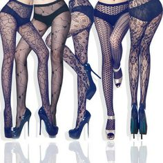 15 Designs patterned Fishnet Pantyhose Stockings Tattoo Print Tights