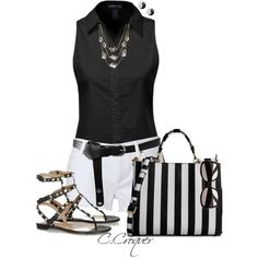 Summer Time For B&W by ccroquer on Polyvore featuring Juicy Couture, Valentino, Dolce&Gabbana, Kenneth Cole, ASOS and River Island