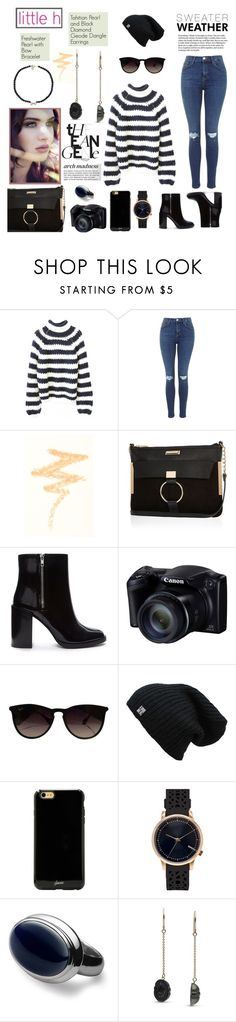 """""""little h jewelry"""" by anyasdesigns ❤ liked on Polyvore featuring NYX, River Island, Forever 21, Ray-Ban, Sonix, Topshop, Pearl & Black, pearljewelry and littlehjewelry"""