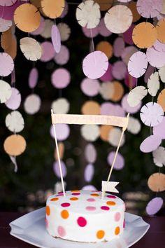 Tissue paper flowers/snowflakes.