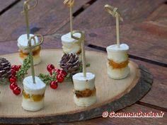 Cette recette de coulommiers farci aux mendiants en sucré/salé permet de faire de petites bouchées à picorer au moment du fromage.