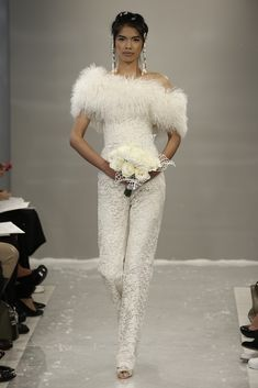 Top 10 Bridal Trends for 2015   ---   Trousers  Of course if you really want to go unconventional for your wedding, you could always ditch the dress and channel your inner Bianca Jagger by wearing trousers! The catwalks were brimming with chic trouser ensembles perfect for you beautiful brides not wishing to wear a dress…..