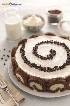 Cheesecake swiss roll. #ricetta #GialloZafferano