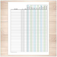 Printable goodie for you! Bill Payment Tracker Log with Amount Column, Turquoise Purple, Full Year - Printable, at Printable Planning.
