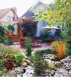 Kleingarten Terrasse gestalten