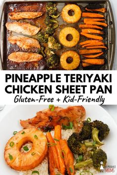 Want to put a delicious dinner on the table but don't have a lot of time? Easy Pineapple Teriyaki Chicken Sheet Pan is a tasty choice for busy parents! 10 minutes of prep and 30 minutes in the oven is all it takes. Teriyaki Chicken, Teriyaki Tofu, Real Food Recipes, Chicken Recipes, Healthy Recipes, Eat Healthy, Delicious Recipes, Easy Recipes, Healthy Snacks