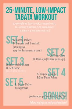 Weekend Workout: Low-Impact Bodyweight Tabata - My Fitness Tabata Workouts, At Home Workouts, Tabata Fitness, Workout Exercises, Fitness Tips, Fitness Motivation, Health Fitness, Fitness Fun, Zumba