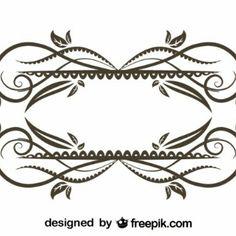 Marco decorativo floral de diseño antiguo complejo