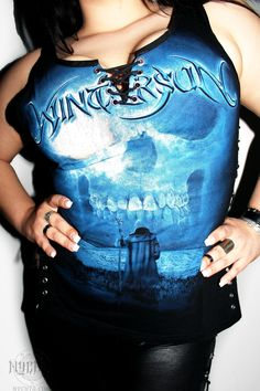 Nychta Custom Heavy Metal T Shirts by Anna Roditi. Wintersun Med-Evil Top. Choose your band get yours! Made to measure, personalised customisations, unique pieces, handmade, revolutionary timeless! Viking Metal, Pagan Metal, Folk Metal, Black Metal, we have been metalheads for a decade, and want to give back in the scene with a fresh fashion statement, rather than the same old factory tees! Death Metal, Power Metal, Heavy Metal Glam Rock, choose your fav and get your unique piece!