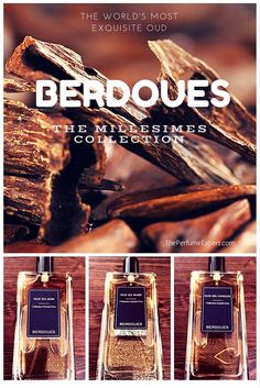 Some of the most exquisite Oud fragrances you'll ever smell! Berdoues has captured the exotic Agarwood in all it's glory with the new Millesime Oud collection part of Grands Crus. Perfume Reviews, Deodorant, Fragrances, Luxury, Collection