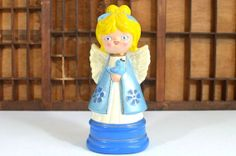 Vintage Ceramic Blue Angel Holding a Blue Bird by VintageRescuer, #MENTIONMONDAY