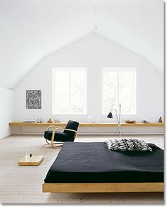 meditation inspired furniture | Zen bedroom in southern Sweden. © Janne Peters