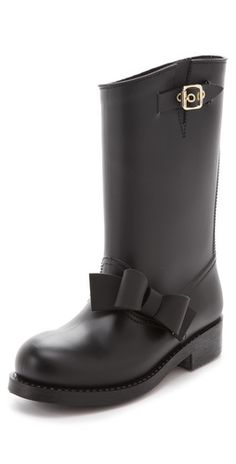 (Valentino) Rain Boots that are actually cute and not hideous.