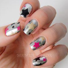 Star Nail Art Nail Polish Art, Nail Polish Designs, Nail Art Designs, Abstract Designs, May Nails, Love Nails, Hair And Nails, Tape Nail Art, Nail Art Design Gallery