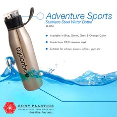 #Aquanta Adventure Sports Stainless Steel #WaterBottle Visit http://bit.ly/1VDgexb for bulk enquiries