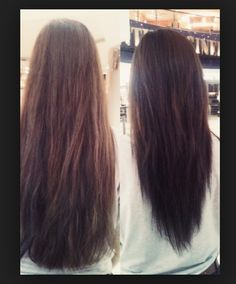 Long-Hair-v-shape-hair-cut-before-and-after I want this for my next hair cut by diane.smith Long-Hair-v-shape-hair-cut-before-and-after I want this for my next hair cut by diane. V Shape Hair, V Shape Cut, My Hairstyle, Pretty Hairstyles, Cut Hairstyles, Layered Hairstyles, Hairstyle Ideas, Layered Haircuts For Long Hair, Long Hair Haircuts