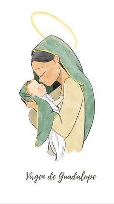 Jesus Mother, Blessed Mother Mary, Divine Mother, Blessed Virgin Mary, Jesus Christ Images, Jesus Art, Jesus Tattoo, Catholic Art, Religious Art