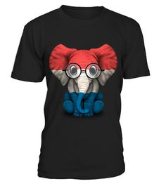 # Baby Elephant with Glasses and Dutch Flag .  HOW TO ORDER:1. Select the style and color you want: 2. Click Reserve it now3. Select size and quantity4. Enter shipping and billing information5. Done! Simple as that!TIPS: Buy 2 or more to save shipping cost!This is printable if you purchase only one piece. so dont worry, you will get yours.Guaranteed safe and secure checkout via:Paypal | VISA | MASTERCARD