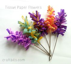 How To Make Tissue Paper Hyacinth Flowers... Free tutorial!