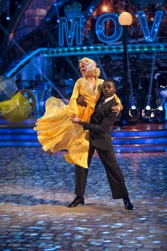 SCD week 3, 2016. Ore Oduba & Joanne Clifton. American Smooth. Credit: BBC / Guy Levy