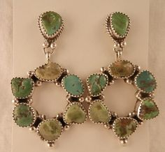 Emerald Valley Turquoise earrings by the talented #Navajo silvermith  Patricia Platero