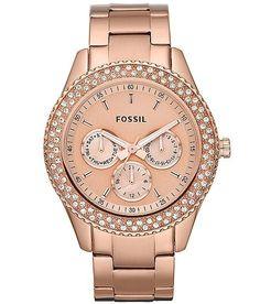 Fossil Stella Rose Watch - Women's Watches | Buckle