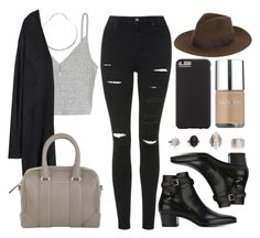 """""""Style #10921"""" by vany-alvarado ❤ liked on Polyvore featuring Topshop, Yves Saint Laurent, H&M, Givenchy, Case-Mate and Nails Inc."""