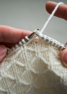 "#Knitting_Stitch -  ""This Beautiful Trellis Stitch would be gorgeous for a winter scarf or sweater and although there are 8 rows to the pattern there are really only 4 rows with a change at the beginning to alternate the trellis Simple really!"" comment via #KnittingGuru"