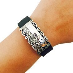 Charm to Accessorize the Fitbit Flex, Fitbit Charge, Charge HR, Garmin Vivofit, Vivosmart, Vivosmart HR, Jawbone Up or Xiaomi Mi - The BELLISIMA Charm in Embellished Silver to Dress Up Your Favorite Fitness Tracker by Funktional Wearables.