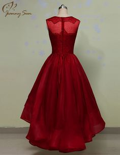 Wine Red Short Evening Dress vestido de festa longo 2015 New Sleeveless Charming Evening Gown Free Shipping CH-2026