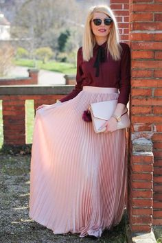 Modest Rose Colored Maxi Skirt