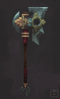 Darksiders 2 Maker Axe Picture  (2d, fantasy, game art, axe)