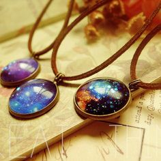 N01 Free Shipping Celebrity Style Beautiful 11 planets Colorful Galaxy Star Spcace Women Men Necklace Ladies Girls Pendant US $4.79
